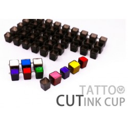 Clear Black Tattoo Modul Cut Ink Cap