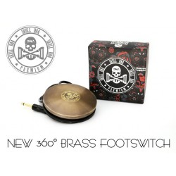 Ava Old School Brass Skull DNA Footswitch